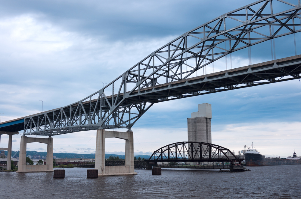 Duluth Harbor Bridges on Lake Superior MoeNevin